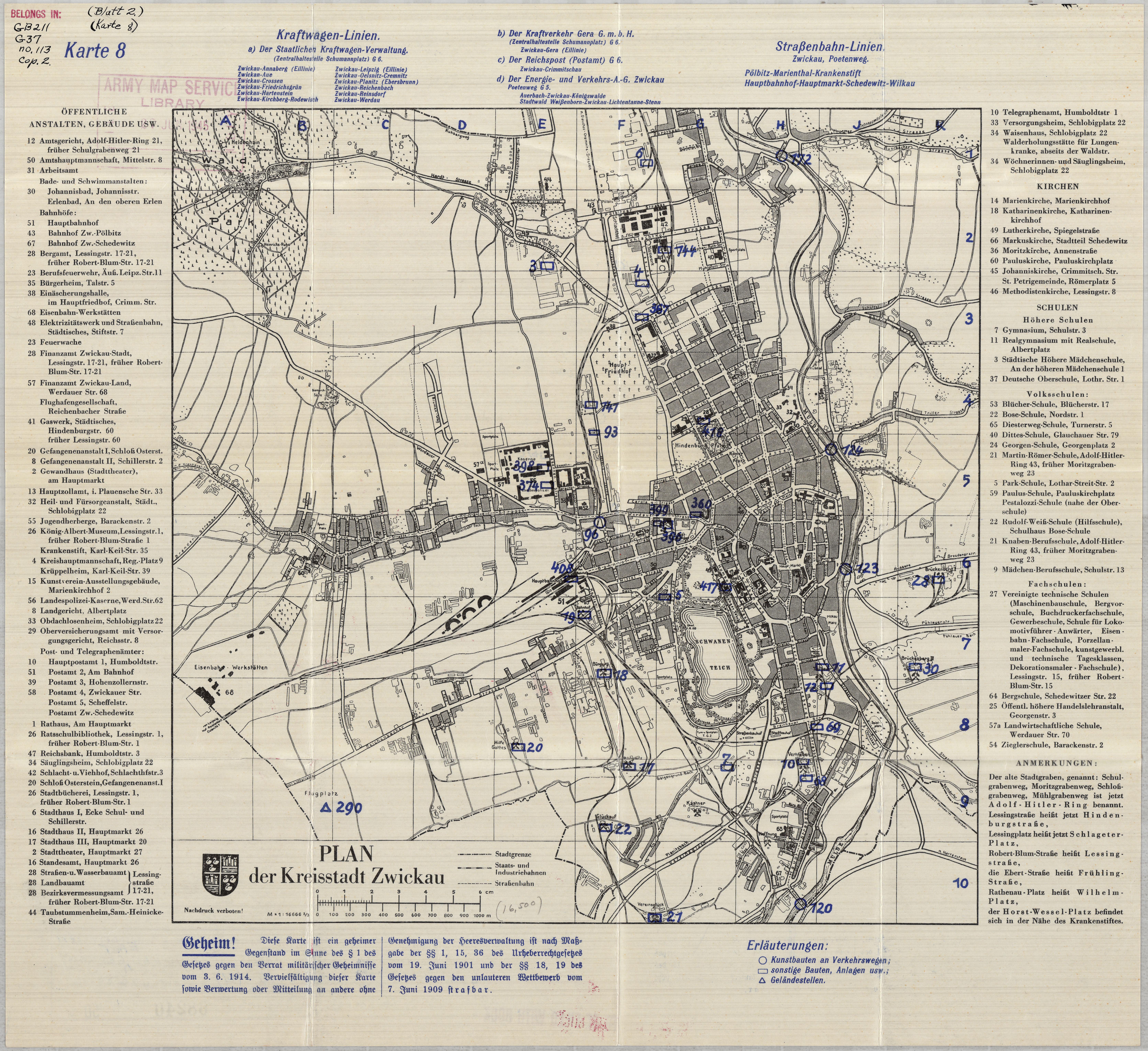 Zwickau Karte.Wyszukane Mapy